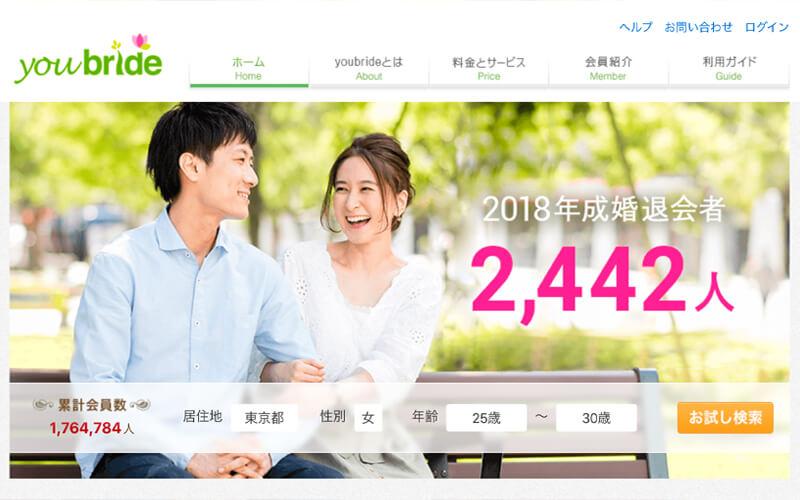 おすすめ 婚活マッチングアプリ ユーブライド (youbride)